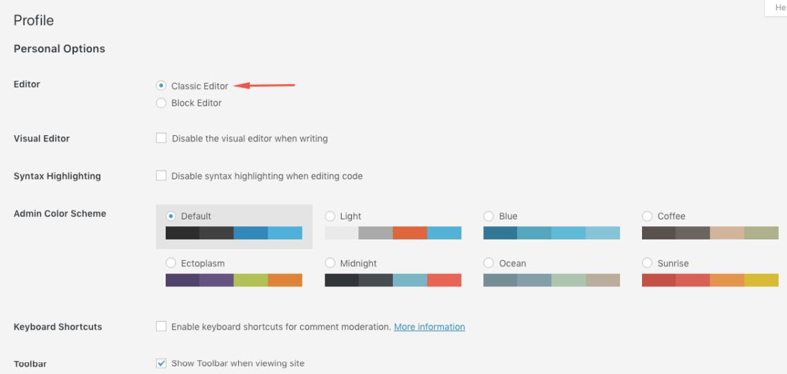 Mengubah Editor Pada User Tertentu