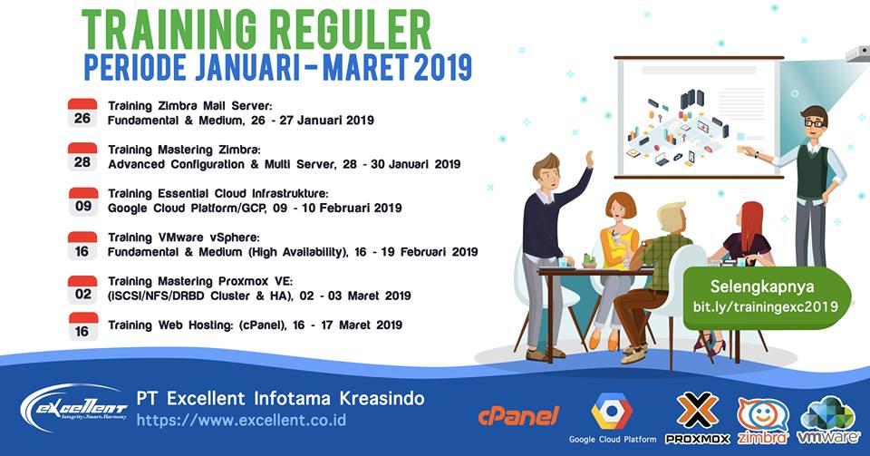 Jadwal Training Reguler Januari-Maret 2019