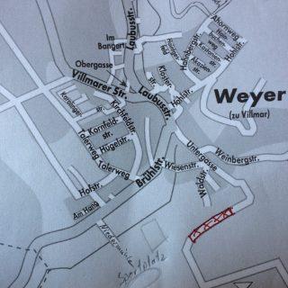 Karte von Weyer mit Angriffsstelle