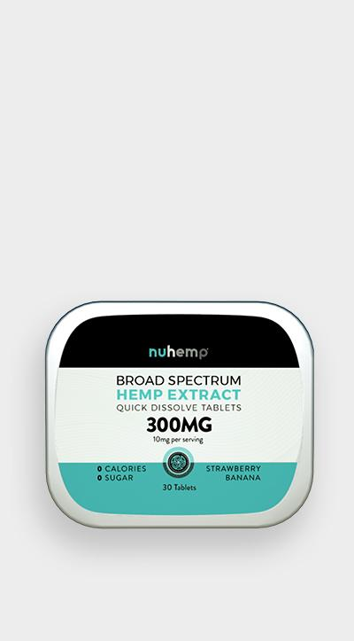 Nuhemp Broad Spectrum Hemp Extract Quick Dissolving Mints