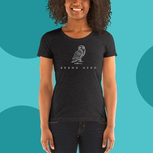 Bran Hero Wise Owl Black Short Sleeve T-Shirt