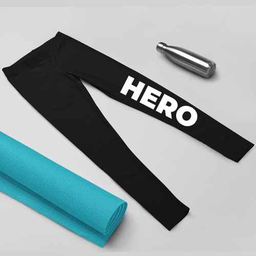 Nuhemp Black capri yoga leggings brand hero