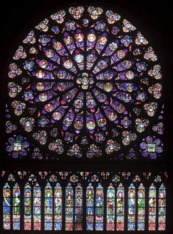 ノートルダム大聖堂火災原因,薔薇窓