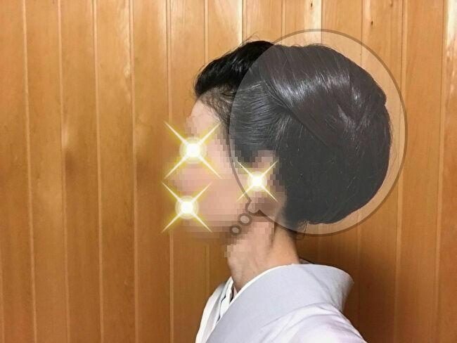 自分で出来る和髪・着物簡単セルフヘアアレンジ②左サイドの付け毛部分