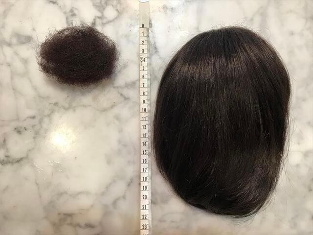 今回の着物の髪型に使ったウイッグとすき毛、あんこ