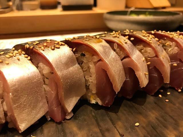 「日本食とワインかわはら」鯖棒寿し