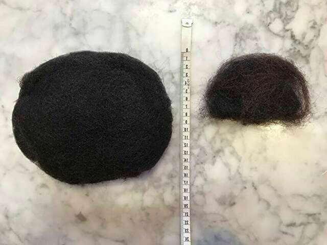 着物の髪型のアップのやり方、手順・使用したすき毛
