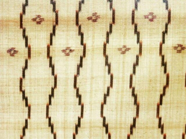芭蕉布の帯 クワンカキー(環掛)縦絣模様