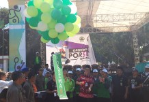 Pekan Olahraga dan Seni Ma'arif (Porsema) XI LP Ma'arif PWNU Jateng resmi dibuka pada Selasa pagi (25/6/2019) di alun-alun Temanggung. (Kredit foto: Ibad)