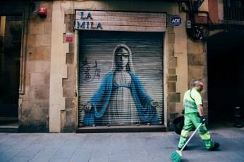 La Mila located in the Gothic Quarter in Barcelona.