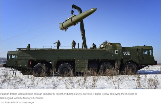 Russian Troops Load a Missile