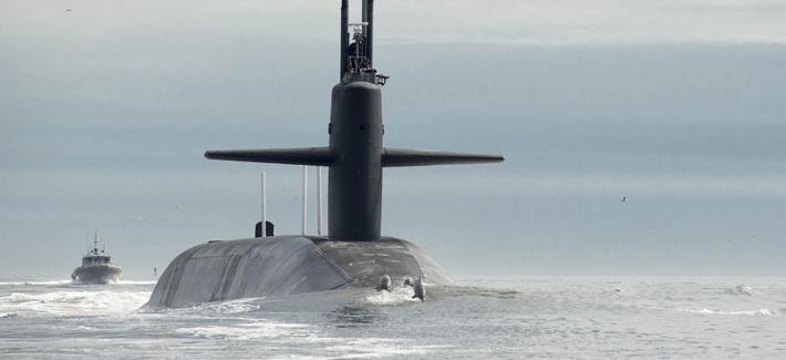 U.S. NAVY / MASS COMMUNICATION SPECIALIST 1ST CLASS JAMES KIMBER | The Ohio-class ballistic missile submarine USS Tennessee (SSBN 734) returns to Naval Submarine Base Kings Bay.