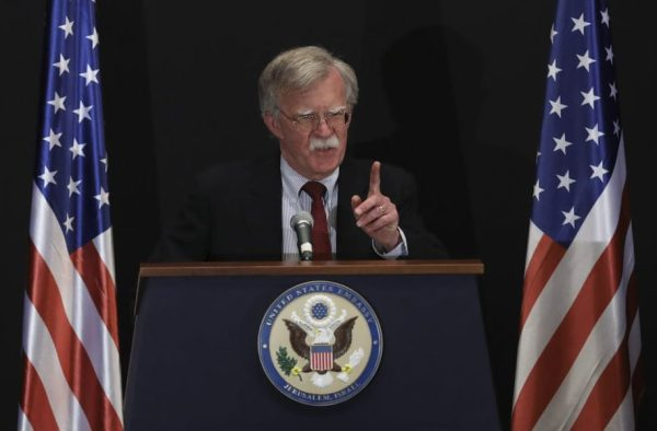 The US national security adviser, John Bolton, is widely seen as a lifelong opponent of arms control agreements. Photograph: Oded Balilty/AP