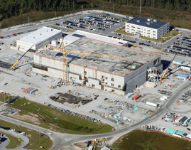 Photo: The heart of the $17 billion MOX plant under construction at Savannah River Site (SRS)