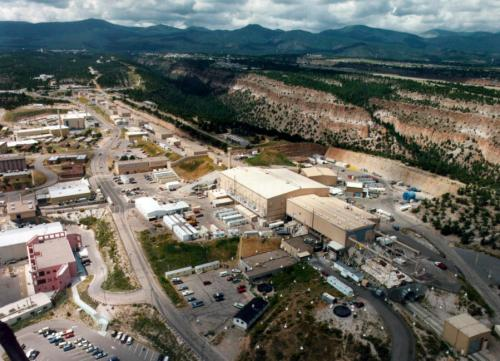 FILE This undated file aerial view shows the Los Alamos National laboratory in Los Alamos, N.M. At Los Alamos National Laboratory, a seven-year, $213 million upgrade to the security system that protects the lab's most sensitive nuclear bomb-making facilities doesn't work. Virtually every major project under the National Nuclear Security Administration's oversight is behind schedule and over budget. (AP Photo/Albuquerque Journal)