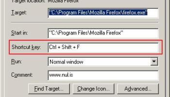 Membuat Shortcut Key Windows XP