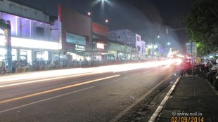 Foto Jejak Cahaya di Jalan Malioboro