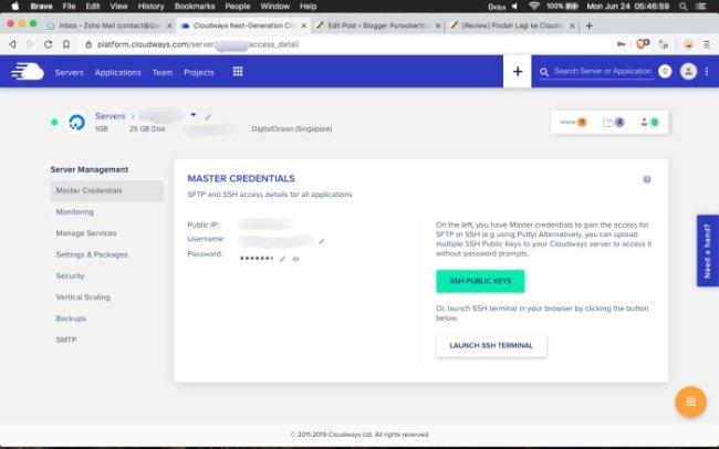 [Review] Pindah ke Cloudways - Solusi Hemat dan Mudah Pakai VPS - Akses File Manager di Cloudways