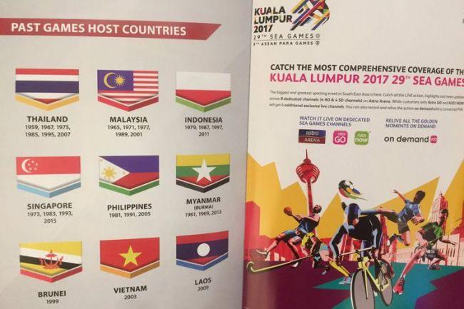 Heboh, Bendera Indonesia Terbalik di Buku Panduan SEA Games 2017 - Bendera Indonesia Terbalik di SEA Games 2017