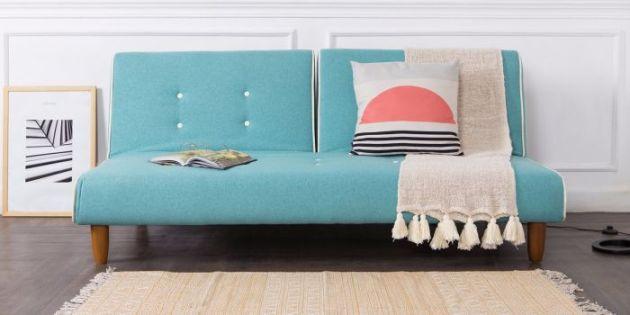 Harga Set Meja Kursi Ruang Tamu Model Minimalis Modern 2020 - Cello Sofa Kasur Warna Teal 1