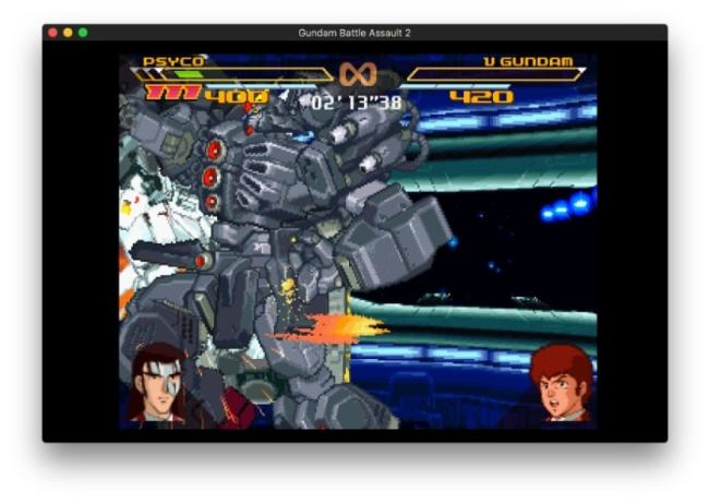 Cara Bermain Game PlayStation di MacBook Pro dengan Emulator OpenEmu - Gundam Battle Assault 2 MacBook Pro OpenEmu