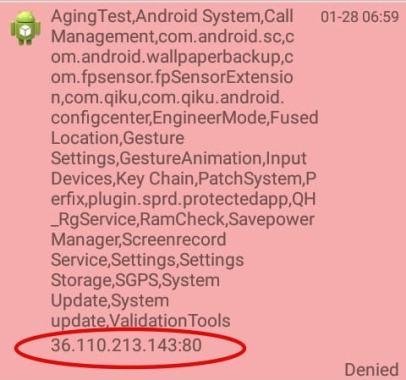 Ini Dia Koneksi Mencurigakan yang Terjadi di Belakang Layar Smartphone Android Murah - Koneksi Malware Android