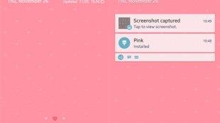 Mencoba Theme Samsung Warna Pink - Tampilan theme warna pink samsung