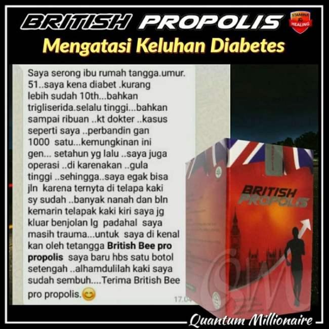 Manfaat dan Testimoni British Propolis - Testimoni British Propolis Diabetes Akut 1