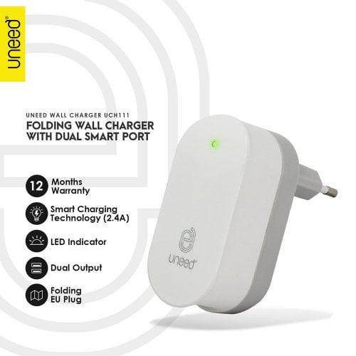 UNEED SMART Travel Charger Fast Charging UCH111​
