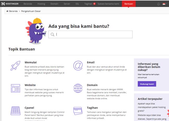 Hostinger Indonesia - Web Hosting Terjangkau untuk Blogger Indonesia - pengetahuan dasar