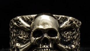 Aksesoris Metalwerks Kelas Dunia, The Black Sword - theblacksword jewelry brass handmade skull anatomy detail 1