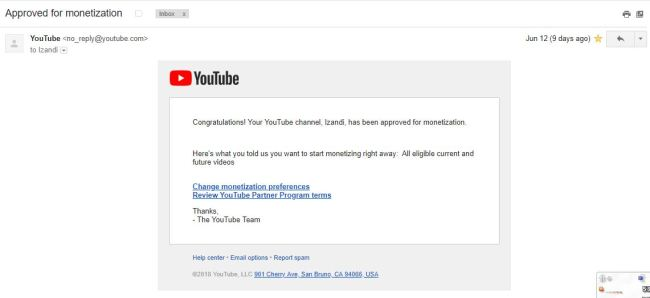 Perjalanan Baru Dimulai - Ganti Nama Channel & Monetisasi Diterima - youtube 12 juni diterima