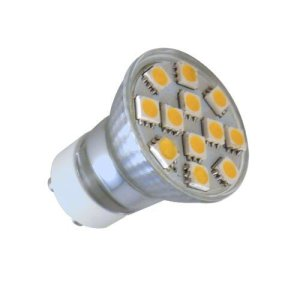 GU10 LED Spot 12 SMD (35mm) warm wit (230 volt)