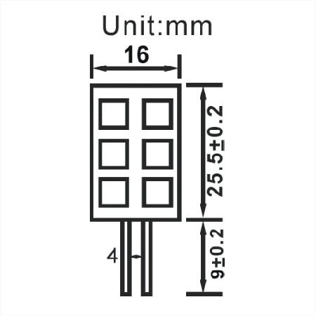 G4 gu4 6 smd lang afmetingen led lamp boot verliuchting multie voltage 10-30v 12v 24v warm wit
