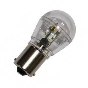 BA15s Led lamp 12 SMD 12v of 24v Warm wit