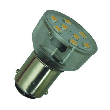 BA15D LED Spot 12V en 24V Warm wit-0