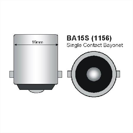 BA15S LED Lamp Melkglas 12V en 24V Multi-voltage-864