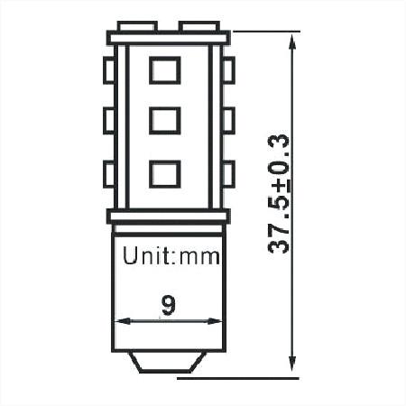 BA9s LED Lamp 12V en 24V Multi-voltage 15SMD-811