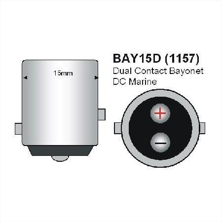 BAY15D LED Lamp 12SMD 12V en 24V Multi-voltage -754