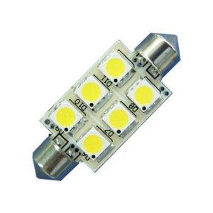 LED S8 Festoon Buislamp 6 SMD Warm wit