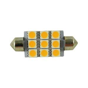 42mm LED S8 Festoon Buislamp 9 SMD Warm wit-0