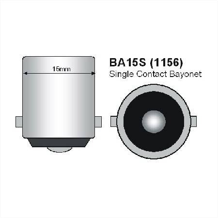 BA15s LED Lamp met nacht sensor-971