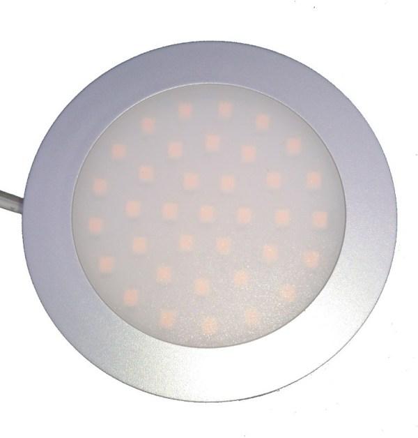 Opbouwspot met melkglas 3w 12v 24v 10-30 volt