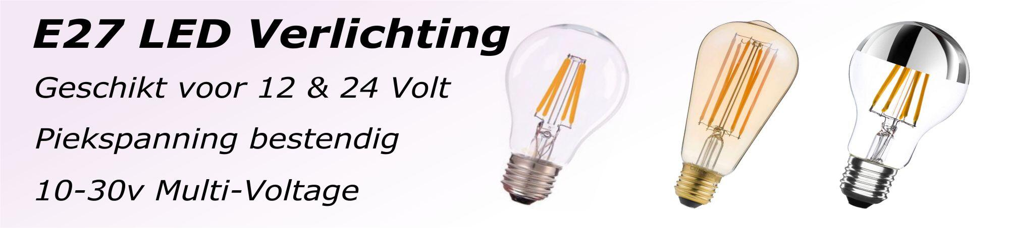 E27 12v en 24v led lampen