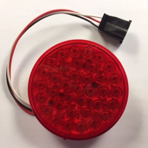 "4"" Round Red LED Bullseye Tail/Turn Light with Plug 417YR-P"