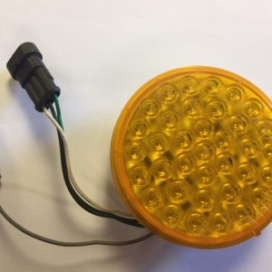 "4"" Amber LED Smart Lamp Curbside High with Hardshell and Plugs 4343A-1"