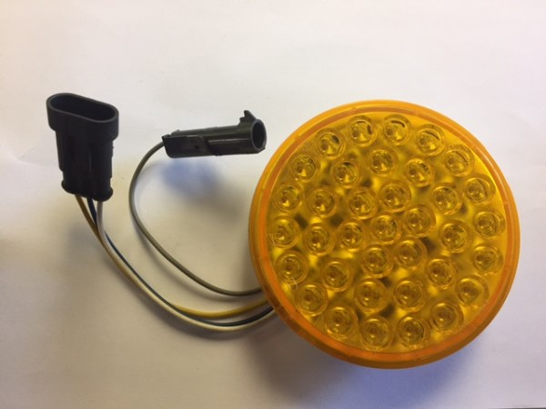 """4"""" Amber LED Smart Lamp Roadside High with Hardshell and Plugs 4343A-2"""