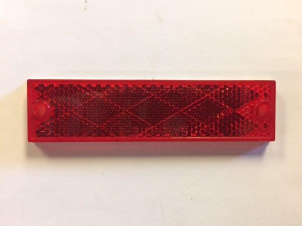 Rectangular Red Reflector B487R