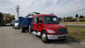 BrusHawg Grapple Loader on Freightliner M2-106