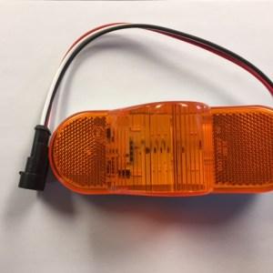 Oval Midbody Amber LED Light with Plug M350A
